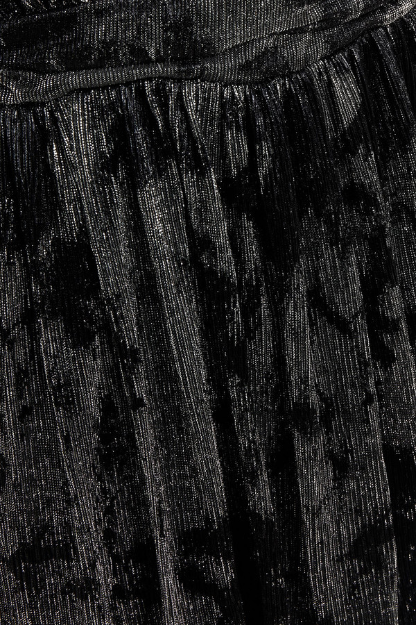 Thumbnail for your product : BA&SH Vianca Wrap-effect Printed Lame Maxi Dress
