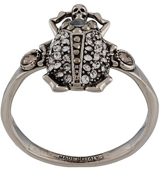 Alexander McQueen ornate gemstone ring