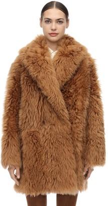 Salvatore Ferragamo Shearling Wrap Coat