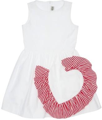 Simonetta Cotton Poplin Dress W/ Heart