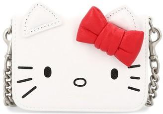 Balenciaga Kitty mini wallet with chain