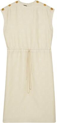 Gucci Diagonal GG stripe midi-dress