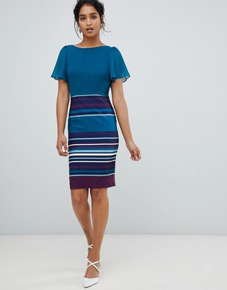 Paper Dolls 2 in 1 stripe skirt midi dress in multi