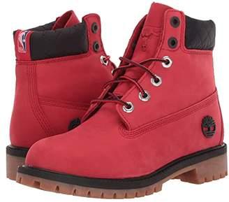 Timberland Kids 6 Premium Waterproof Boot - Chicago Bulls (Big Kid) (Medium Red Nubuck) Kids Shoes