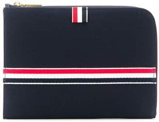 Thom Browne striped clutch bag