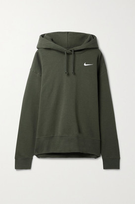 Nike Cotton-blend Jersey Hoodie - Army green