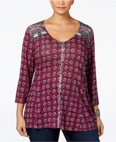 Style&Co. Style & Co. Plus Size Printed Top, Only at Macy's