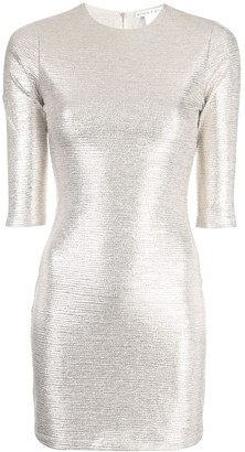 Alice + Olivia Delora crew neck dress