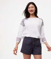 LOFT Embroidered Border Sweater