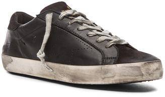 Golden Goose Superstar Leather Sneakers in Black | FWRD