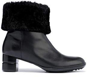 Salvatore Ferragamo My Cold Shearling-lined Leather Ankle Boots