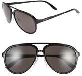Carrera Men's Eyewear 58Mm Aviator Sunglasses - Dark Blue/ Blue Mirror