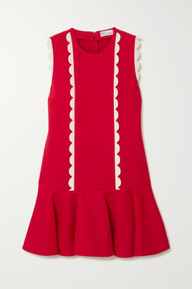 RED Valentino Scalloped Crepe Mini Dress