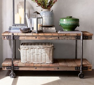 "Pottery Barn Williams 64"" Reclaimed Wood Media Console"