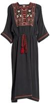 Masscob Panta embroidered silk-crepe dress