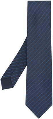 Hermes H wire print neck tie