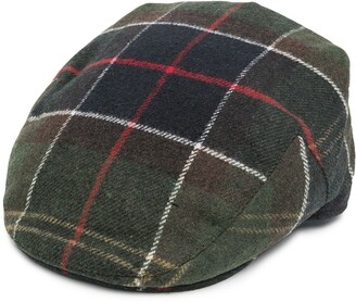 Barbour Checked Flat Cap