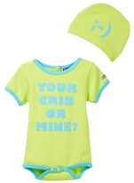 Sozo Your Crib Bodysuit & Cap Set (Baby Boys)