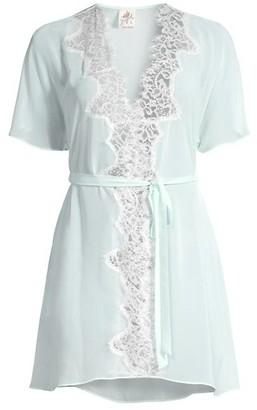 Jonquil Stephanie Chiffon Lace Short Robe