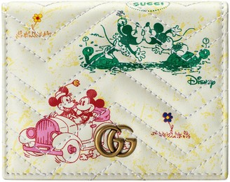 Gucci Online Exclusive Disney x GG Marmont card case wallet