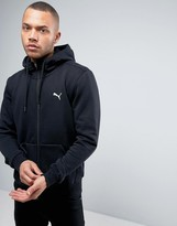 Puma ESS Zip-up Hoodie In Black 838256 01