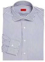 Isaia Striped Long Sleeve Cotton Shirt