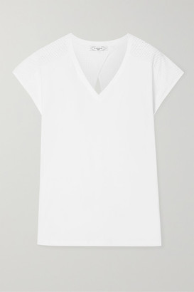 L'etoile Sport L'Etoile Sport - Performance Perforated Stretch-jersey Tennis T-shirt - White