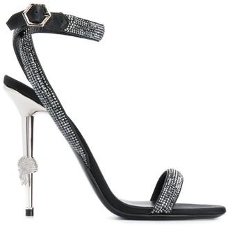 Philipp Plein Crystal high-heeled sandals