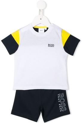 Boss Kidswear Colour-Block Two-Piece Set