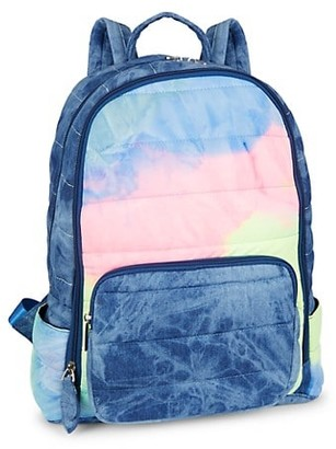 Bari Lynn Tie-Dye Reverse Pocket Backpack