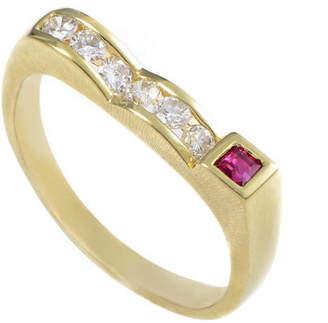 Diamond Select Cuts 18K 0.26 Ct. Tw. Diamond & Ruby Ring