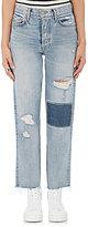 GRLFRND Women's Helena Patchwork Straight Crop Jeans
