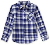 Lucky Brand Big Boys 8-20 Plaid Button-Front Long-Sleeve Shirt