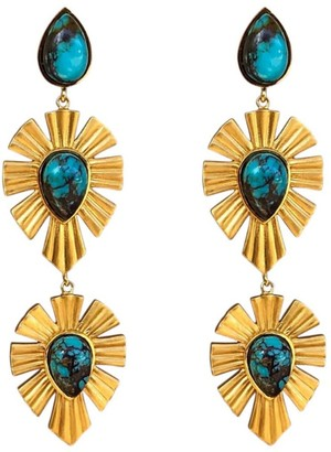 Christina Greene Royal Radiance Earrings Turquoise