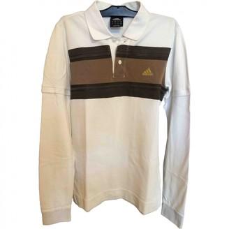 adidas White Cotton Polo shirts