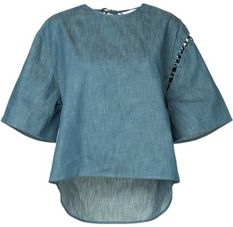 Puma Maison Yasuhiro wide sleeved denim T-shirt