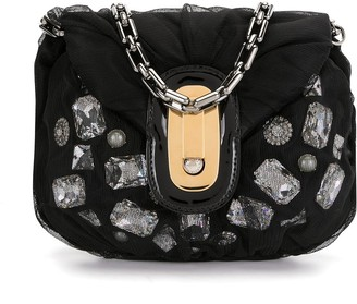 Dolce & Gabbana Pre-Owned Stone-Embellished Panelled Tote Bag