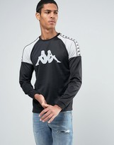 Kappa Long Sleeve T-shirt With Large Logo And Taping