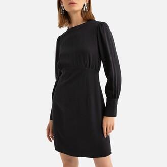 See U Soon Long-Sleeved Mini Dress with Low Back
