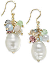 Charter Club Gold-Tone Shaky Bead & Imitation Pearl Drop Earrings, Only at Macy's