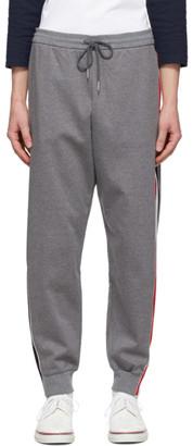Thom Browne Grey Interlocking RWB Stripe Lounge Pants