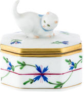 Herend Blue Garland Porcelain Box