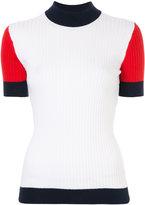 Courreges mockneck short sleeve top