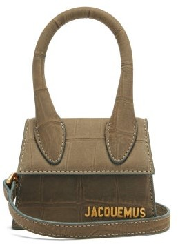 Jacquemus Le Chiquito Croc-embossed Leather Cross-body Bag - Beige