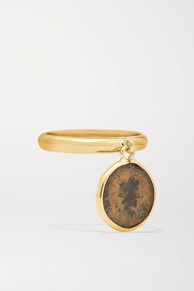 Dubini Emperor Flip 18-karat Gold Bronze Ring - 52