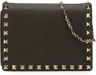 Valentino Garavani Rockstud Vitello Chain Clutch Bag
