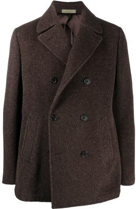 Corneliani Brown Wool Coat