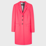 Paul Smith Women's Bright Pink Wool-Cashmere Epsom Coat
