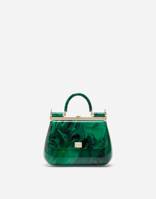 Dolce & Gabbana Sicily Box Bag In Malachite Sint Glass