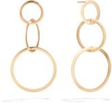 Lana Small 14k Gold Flat 3-Hoop Earrings
